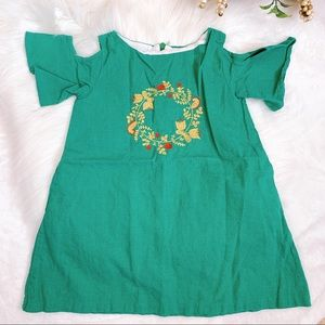 Boutique Toddler Girl Embroidered Linen Dress